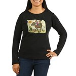 Cute Camel Women's Long Sleeve Dark T-Shirt
