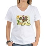 Cute Camel Women's V-Neck T-Shirt