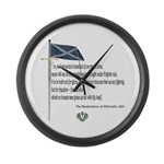 Declaration Of Arbroath Large Wall Clock