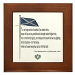 Declaration Of Arbroath Framed Tile