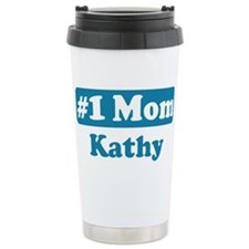 #1 Mom Kathy Ceramic Travel Mug