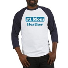 #1 Mom Heather Baseball Jersey