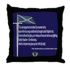 Declaration Of Arbroath Throw Pillow