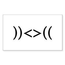 ))<>(( Rectangle Sticker 50 pk)