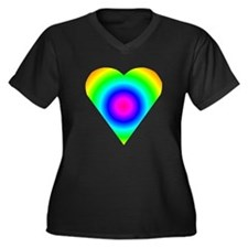 Trippy Heart 8 Women's Plus Size V-Neck Dark T-Shi