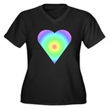 Trippy Heart 1 Women's Plus Size V-Neck Dark T-Shi
