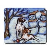 POINTER Xmas snowman design Mousepad