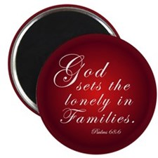 God Sets the Lonely in Families - Adopt! Magnet