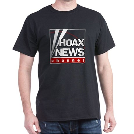 Hoax News Black T-Shirt