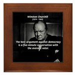 Sir Winston Churchill Framed Tile