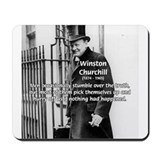 Politics Winston Churchill Mousepad