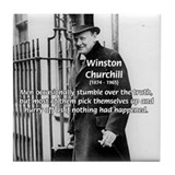 Politics Winston Churchill Tile Coaster