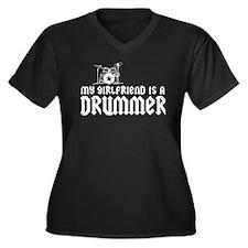 My Girlfriend is a Drummer Women's Plus Size V-Nec