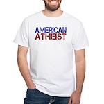 American Atheist White T-Shirt