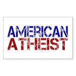 American Atheist Rectangle Sticker