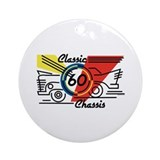 Classic Chassis 60th Birthday Ornament (Round)