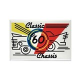 Classic Chassis 60th Birthday Rectangle Magnet