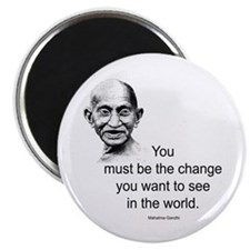 "Gandhi - Be the Change 2.25"" Magnet (10 pack)"