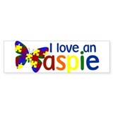 I love an Aspie Bumper Sticker (10 pk)