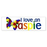 I love an Aspie Bumper Car Sticker