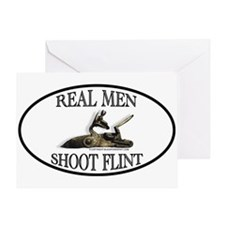 Real Men Shoot Flint Greeting Card