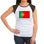 Portuguese Flag of Portugal Women's Cap Sleeve T-S