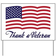 Thank A Veteran Yard Sign