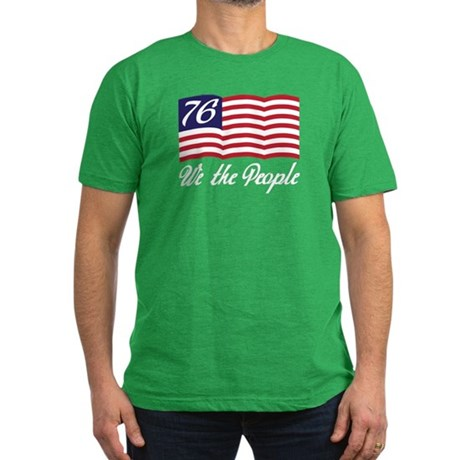 We The People Men's Fitted T-Shirt (dark)