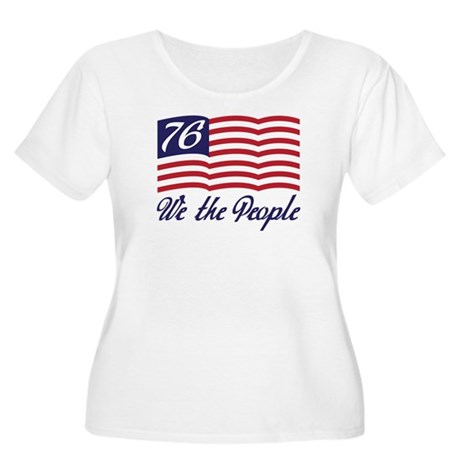 We The People Women's Plus Size Scoop Neck T-Shirt