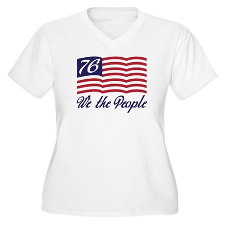 We The People Women's Plus Size V-Neck T-Shirt