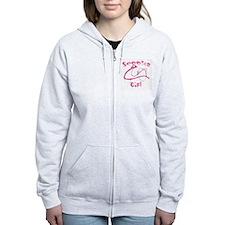 Women's Grey/Pink Zip Hoodie