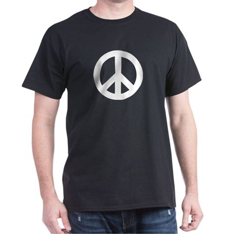 Peace Sign Black T-Shirt