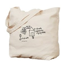 Flying House Tote Bag