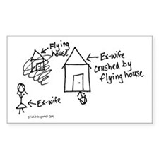 Flying House Rectangle Decal
