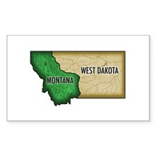 West Dakota Rectangle Decal