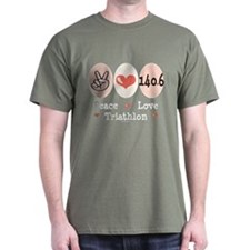 Peace Love Triathlon 140.6 T-Shirt