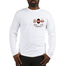 Peace Love Triathlon 140.6 Long Sleeve T-Shirt