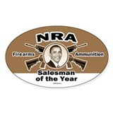 Firearms & Ammo Salesman Oval Decal