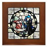 St Catherine of Sienna Framed Tile