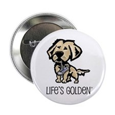 Life's Golden Shoe Button