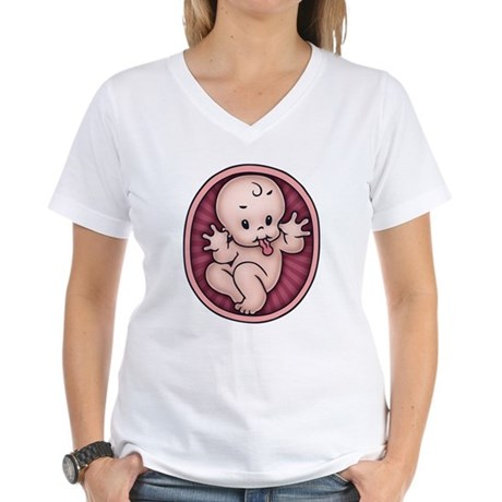 Razz Baby Women's V-Neck T-Shirt