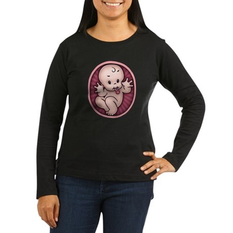 Razz Baby Women's Long Sleeve Dark T-Shirt