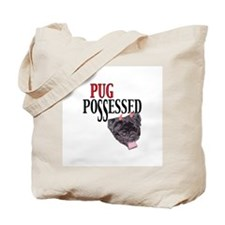 (Visit AllThingsPug.com) Pug Possessed Tote Bag