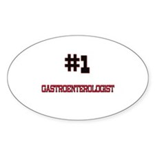 Number 1 GASTROENTEROLOGIST Oval Decal