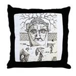 """SLAVES TO TIME"" Throw Pillow"