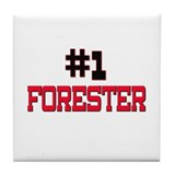 Number 1 FORESTER Tile Coaster