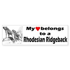 Rhodesian Ridgeback Bumper Bumper Sticker