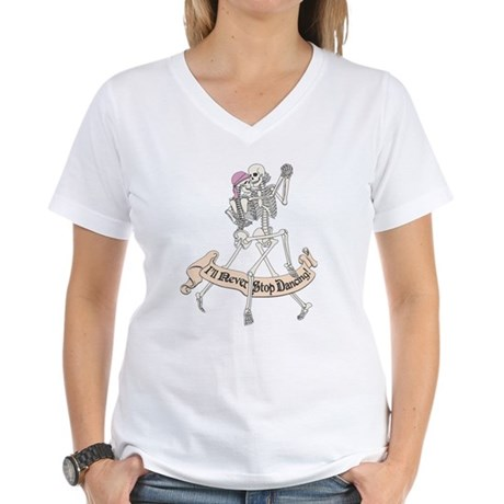 Dancing Skeletons Women's V-Neck T-Shirt