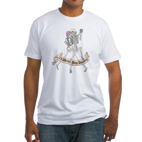 Dancing Skeletons Fitted T-Shirt