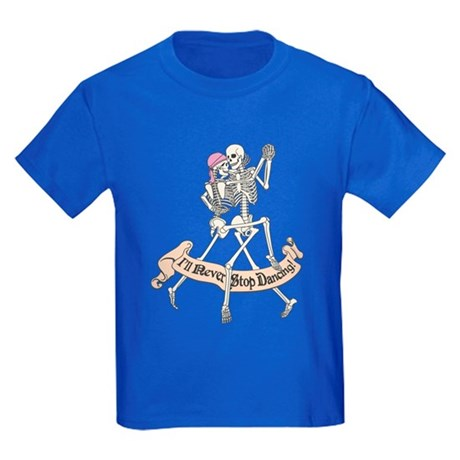 Dancing Skeletons Kids Dark T-Shirt